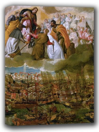 Veronese, (Paolo Caliari): Allegory of the Battle of Lepanto. Fine Art Canvas. Sizes: A4/A3/A2/A1 (002018)